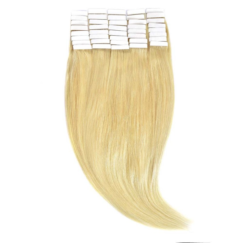 Tape-In Par Natural Volum 50cm 40suv 170gr Blond Deschis #60