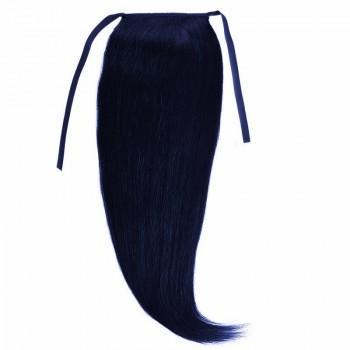 Cozi Par Natural Volum 50cm 140gr Negru Albastrui #1(blue black)