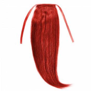 Cozi Par Natural Volum 50cm 140gr Rosu Aprins #RED