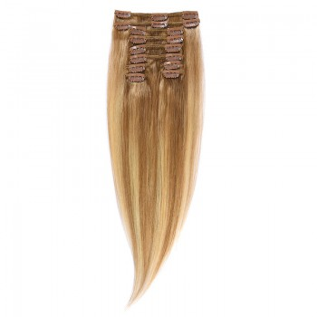 Clip-On Par Natural 40cm 90gr Balayage Saten Luminos/Blond Deschis/Blond Mediu 8/60/18
