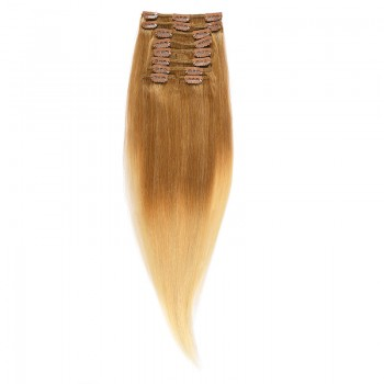 Clip-On Par Natural 60cm 100gr Ombre Saten Luminos/Blond Deschis #T8/60