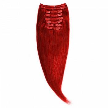 Clip-On Par Natural Volum 50cm 180gr Rosu Aprins #RED