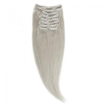 Clip-On Par Natural Volum 40cm 140gr Blond Argintiu #SILVER