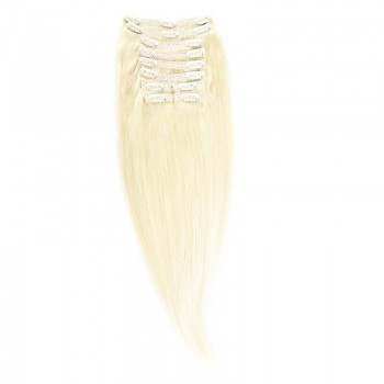 Clip-On Par Natural MegaVolum 50cm 240gr Blond Alb #WhiteBlonde