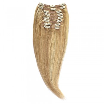 Clip-On Par Natural MegaVolum 50cm 240gr Blond Miere Suvitat/Blond Deschis #27/60