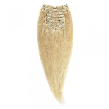 Clip-On Par Natural MegaVolum 50cm 240gr Blond Ultra Cenusiu #LightSilver