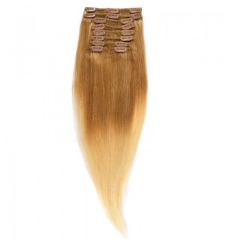 Clip-On Par Natural Volum 50cm 180gr Ombre Saten Luminos/Blond Deschis #T8/60