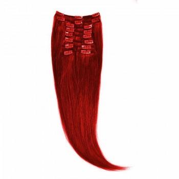 Clip-On Par Natural 60cm 100gr Rosu Aprins #RED