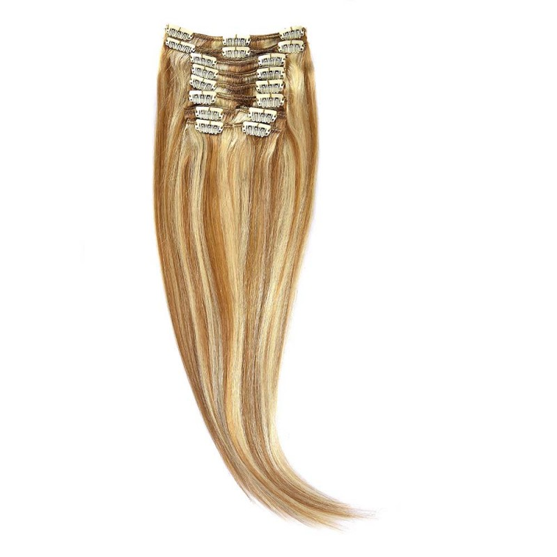Clip-On Par Natural 50cm 100gr Blond Miere Suvitat/Blond Deschis
