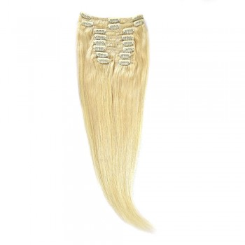 Clip-On Par Natural 50cm 100gr Blond Ultra Cenusiu #LightSilver