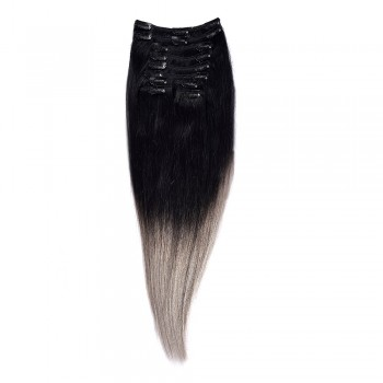 Clip-On Par Natural 50cm 100gr Ombre Negru-Gri
