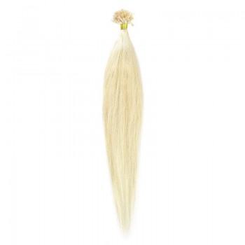 Cheratina Par Natural 60cm 50suv 1gr/suv Blond Alb #WhiteBlonde