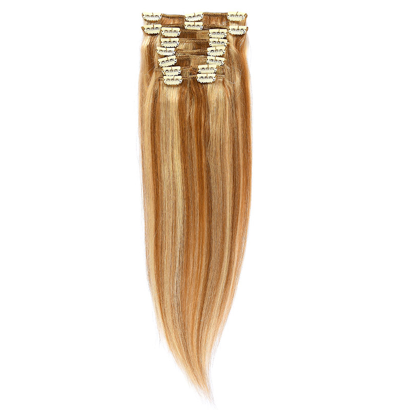 Clip-on Par Natural 50cm 100gr Saten Deschis Suvitat/Blond Deschis #12/60