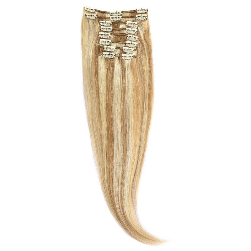 Clip-On Par Natural 60cm 100gr Blond Miere Suvitat/Blond Deschis