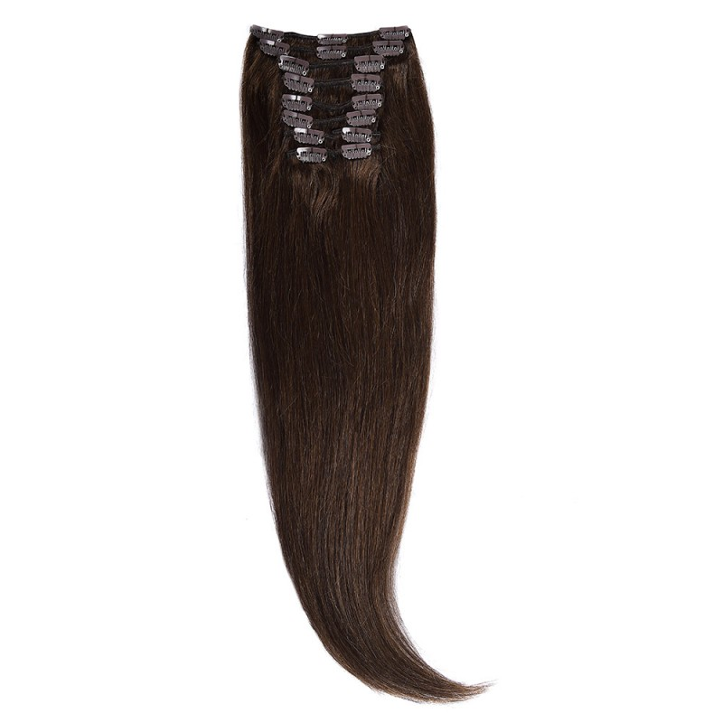 Clip-On Par Natural 60cm 100gr Saten Ciocolatiu