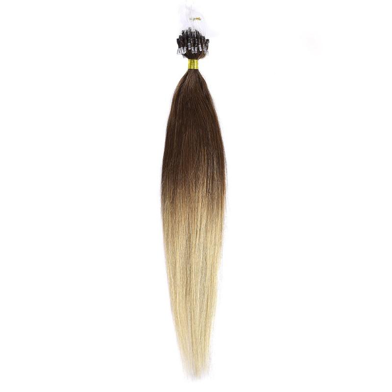 Microring Par Natural 50cm 50suv 1gr/suv Ombre Saten Ciocolatiu - Blond Deschis #T4/60