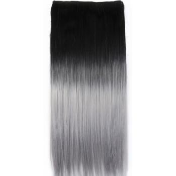 One-piece Par Natural 50cm 100gr Ombre Negru-Gri #T1/Mettalicsilver