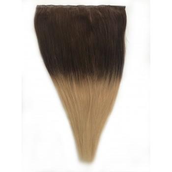 One-piece Par Natural 50cm 100gr Ombre Saten Ciocolatiu/Blond Deschis #T4/60