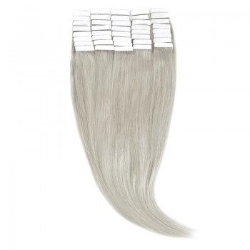 Tape-In Par Natural 50cm 40suv 100gr Blond Argintiu #SILVER