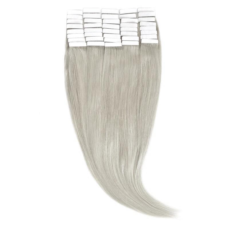 Tape-In Par Natural 60cm 40suv 100gr Blond Argintiu #SILVER