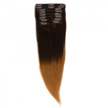 Clip-On Par Natural Volum 50cm 180gr Ombre Castaniu/Blond Miere #T2/27