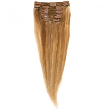 Clip-On Par Natural MegaVolum 50cm 240gr Balayage Saten Luminos/Blond Deschis/Blond Mediu 8/60/18