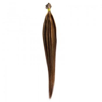 Cheratina Par Natural 50cm 50suv 1gr/suv Saten Ciocolatiu Suvitat/Blond Miere #4/27