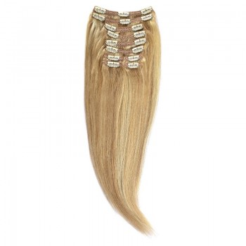 Clip-On Par Natural Volum 40cm 140gr Blond Miere Suvitat/Blond Deschis #27/60