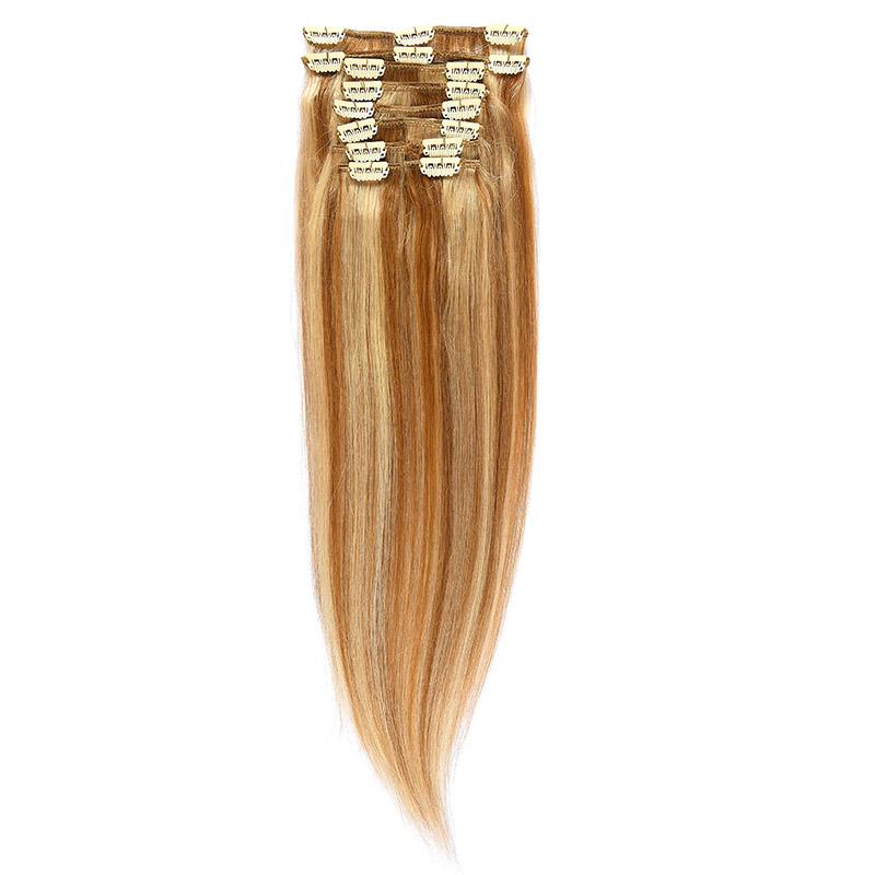 Clip-On Par Natural 60cm 100gr Saten Deschis Suvitat/Blond Deschis #12/60