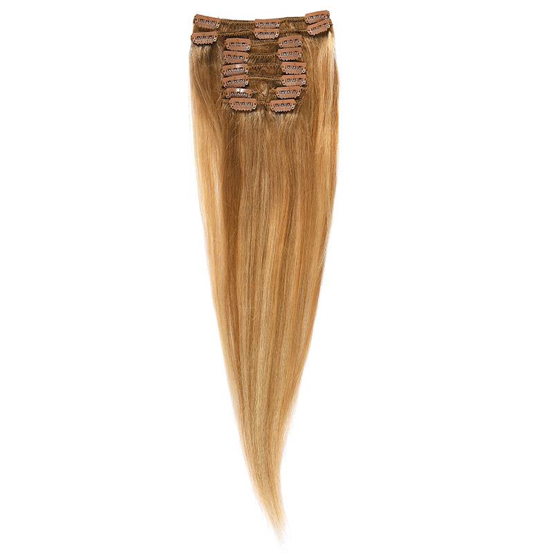 Clip-on Par Natural 50cm 100gr Balayage Saten Luminos/Blond Deschis/Blond Mediu 8/60/18