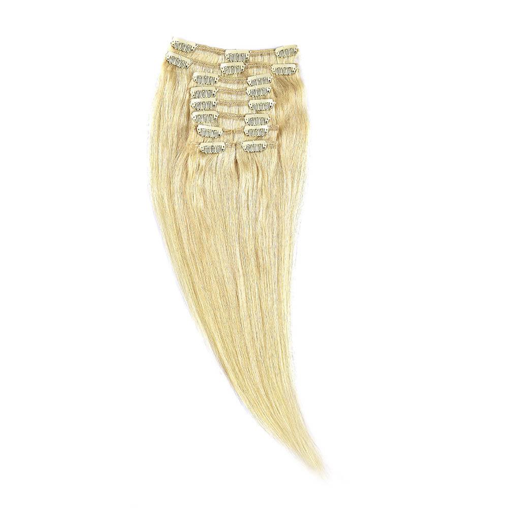 Clip-On Par Natural 30cm 80gr Blond Ultra Cenusiu #LightSilver