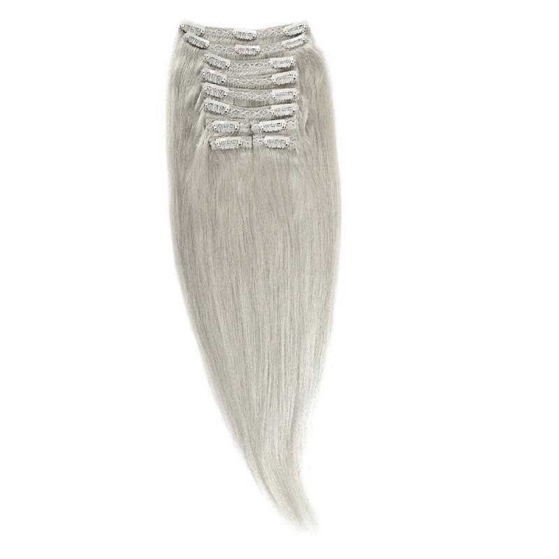 Clip-On Par Natural MegaVolum 50cm 240gr Blond Argintiu #SILVER