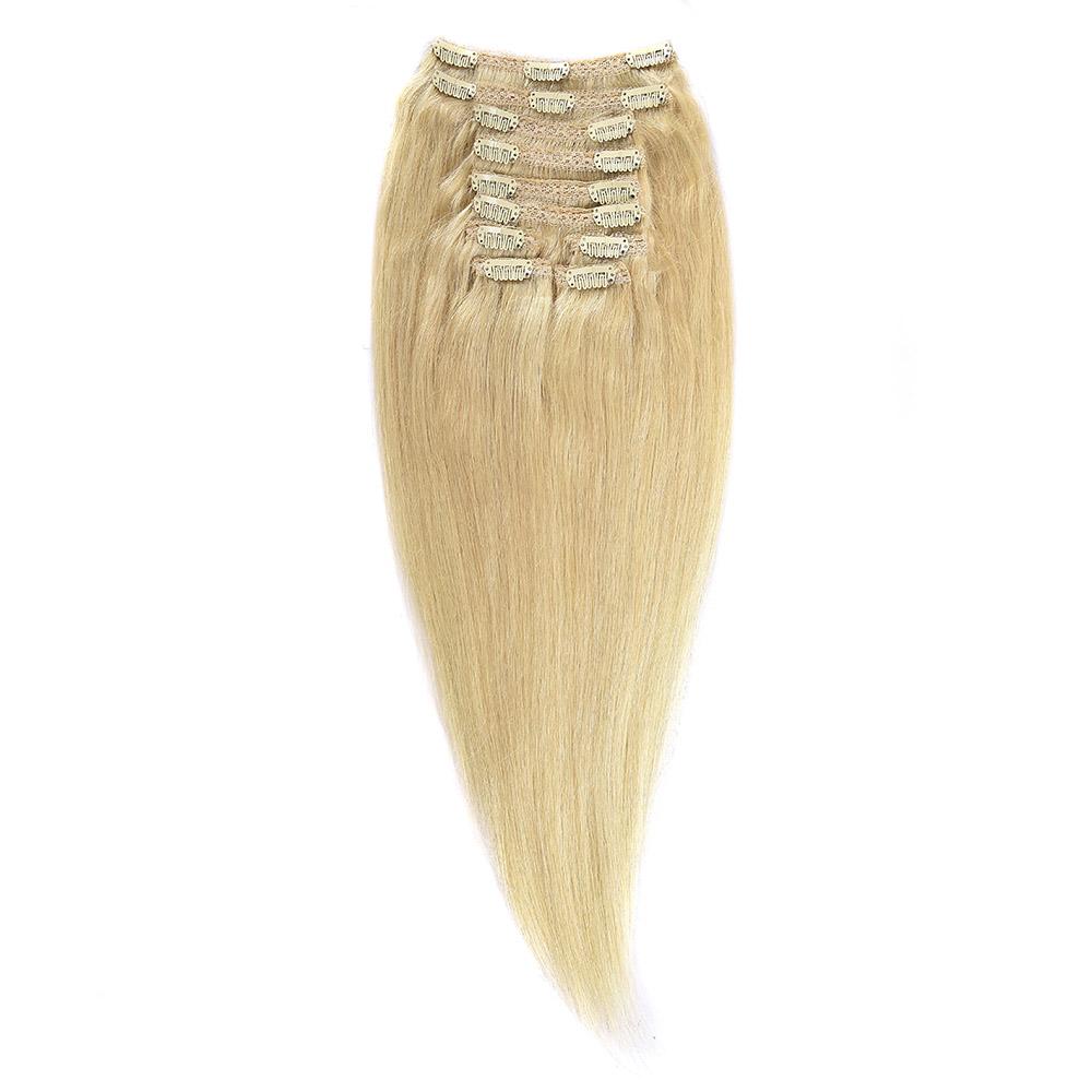 Clip-on Par Natural MegaVolum 60cm 240gr Blond Ultra Cenusiu #LightSilver