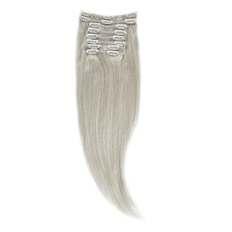 Clip-on Par Natural 50cm 100gr Blond Argintiu #SILVER