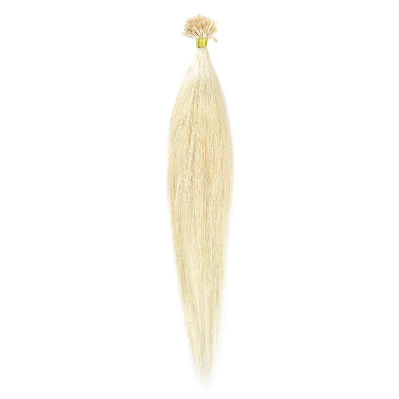 Cheratina Par Natural 50cm 50suv 1.4gr/suv Blond Alb #WhiteBlonde