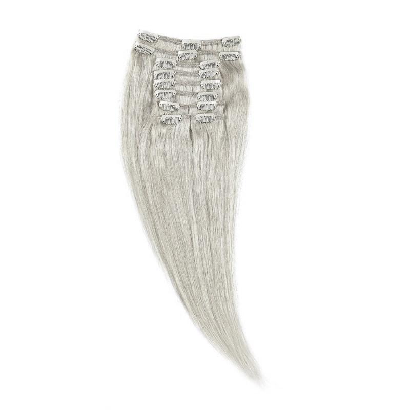 Clip-On Par Natural 40cm 90gr Blond Argintiu #SILVER