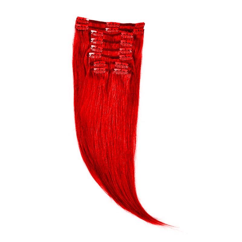 Clip-On Par Natural 40cm 90gr Rosu Aprins #RED