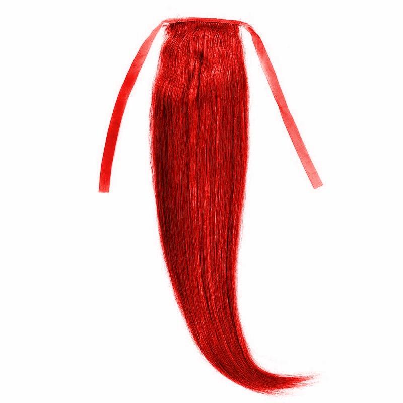 Cozi Par Natural 40cm 90gr Rosu Aprins #RED