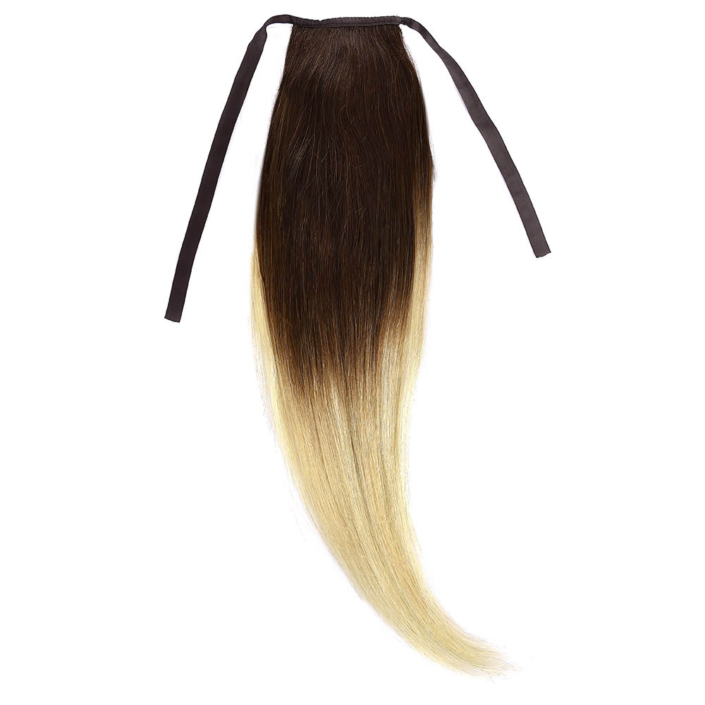 Cozi Par Natural 40cm 90gr Ombre Saten Ciocolatiu-Blond Deschis #T4/60