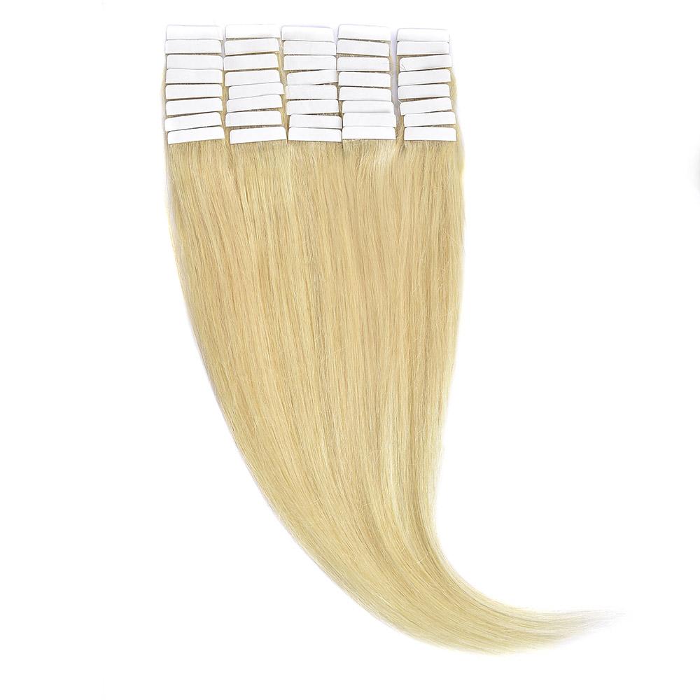 Tape-In Par Natural 50cm 40suv 100gr Blond Ultra Cenusiu #LightSilver