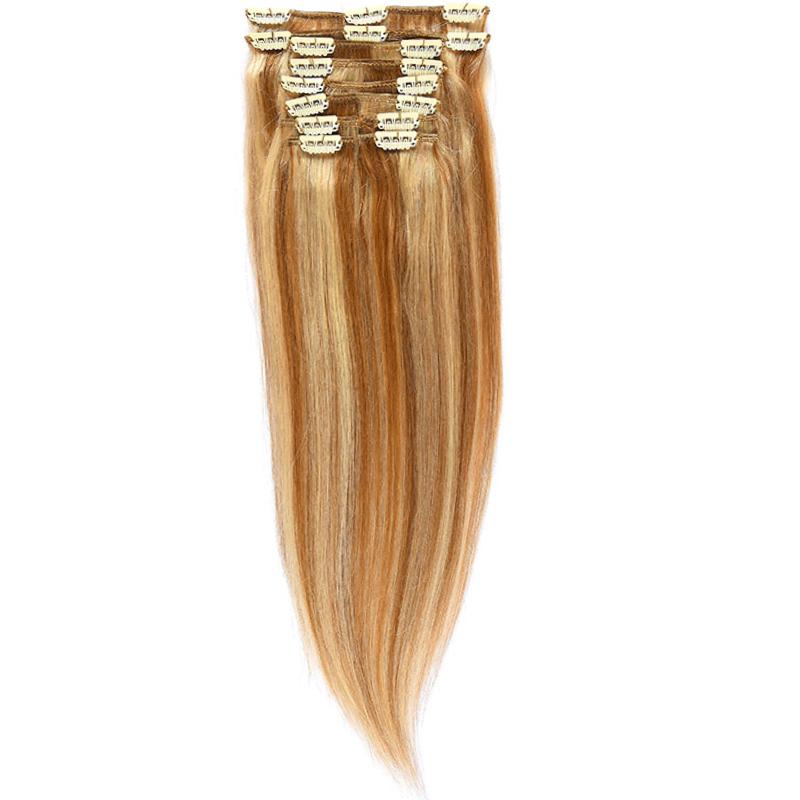 Clip-On Par Natural Volum 40cm 140gr Saten Deschis Suvitat/Blond Deschis #12/60