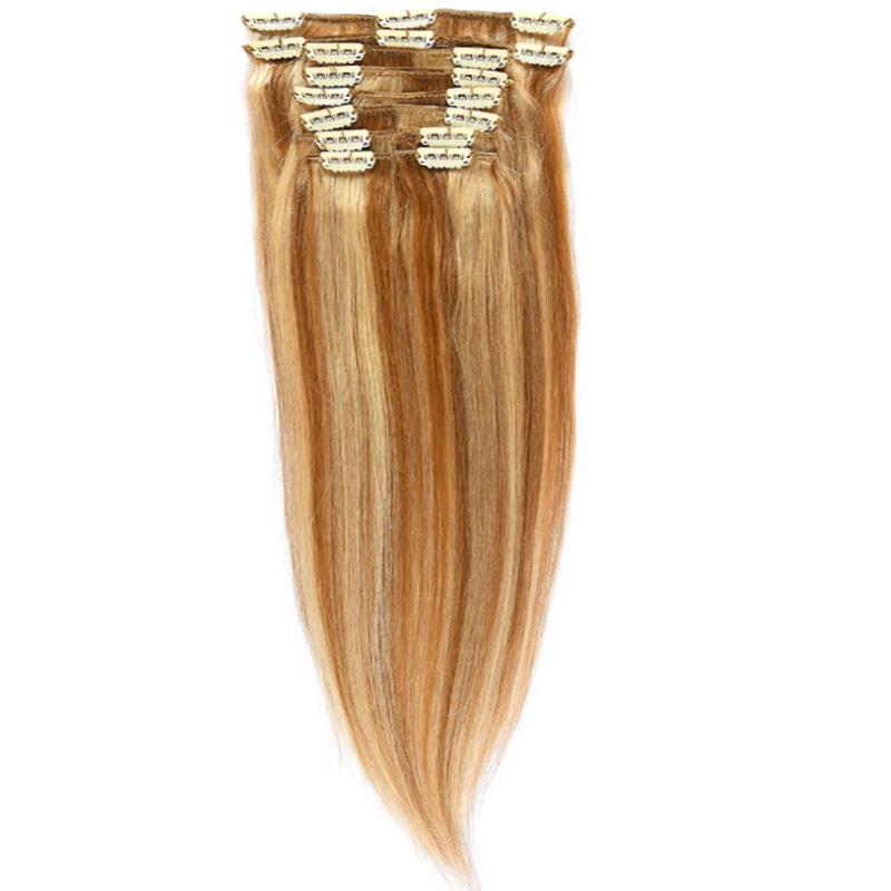 Clip-On Par Natural MegaVolum 50cm 240gr Saten Deschis Suvitat/Blond Deschis #12/60