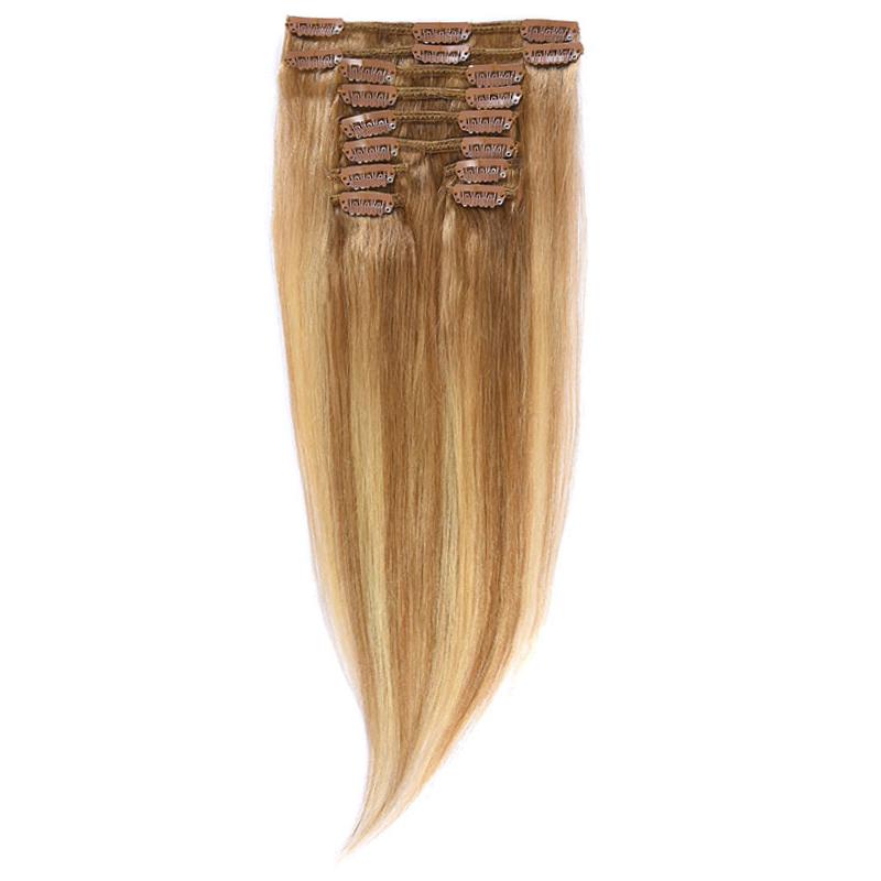 Clip-On Par Natural Volum 40cm 140gr Balayage Saten Luminos/Blond Deschis/Blond Mediu 8/60/18
