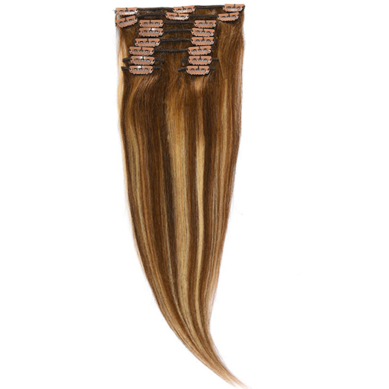 Clip-On Par Natural MegaVolum 50cm 240gr Balayage Saten Mediu/Blond Opal/Saten Mediu 6/22/6