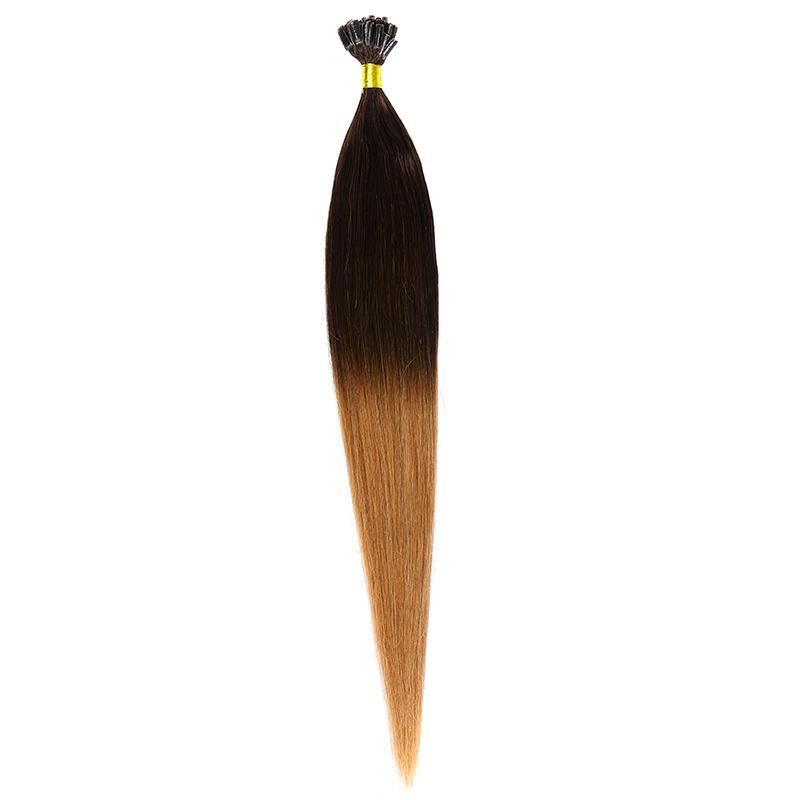 Cheratina Par Natural 50cm 50suv 1gr/suv Ombre Saten Ciocolatiu/Blond Miere #T4/27